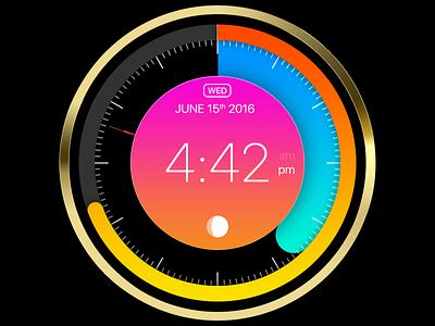 Clock UI app web widget ui