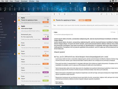 Nylas N1 theme macos osx mail app nylas ui