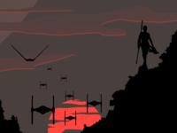 Rey on sunset
