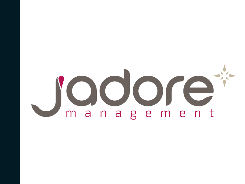 J'Adore Management Logo + BC business card visual identity logotype logo