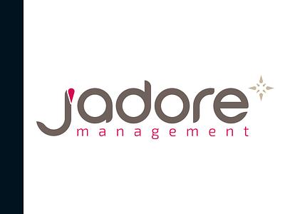 J'Adore Management Logo + BC business card visual identity logotype logo