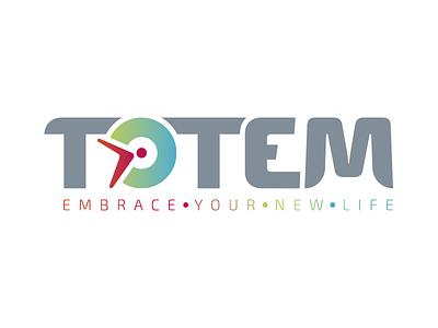 Totem app logo app visual identity logotype logo