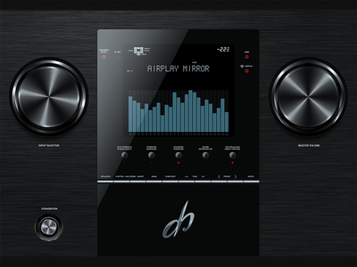 Skeuomorphic UI ui user interface knob music ipad ios ux player tuner