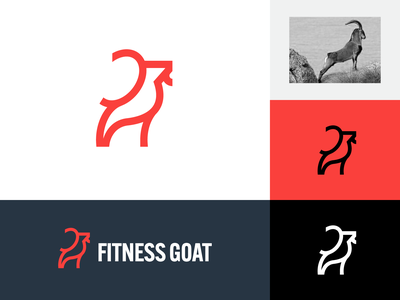 Wild Goat concept abstract animal icon powerful power strong fitness greatest of all time self-confidence standing horn goat wild mark symbol identity brand branding logo