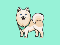 Pomsky beautiful breed avatar cartoon pet animal smile happy friendly fluffy lovely adorable character mascot dog illustration cute pomsky husky pomeranian