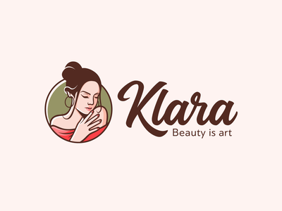 Klara human girl feminine handwritten script elegant pretty skin skincare pedicure manicure salon beauty beautiful person people woman identity branding logo