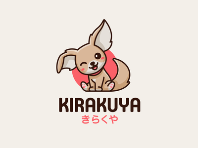 Kirakuya toys cartoon plush supermarket shop store snack sun japanese japan adorable chihuahua dog character mascot cute illustrative identity branding logo