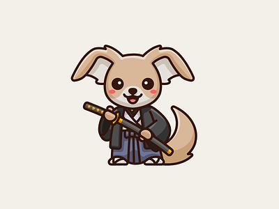 Kirakuya Japanese Theme plush happy puppy animal illustrative illustration japanese japan kimono katana sword samurai chihuahua dog lovely adorable cute mascot cartoon character