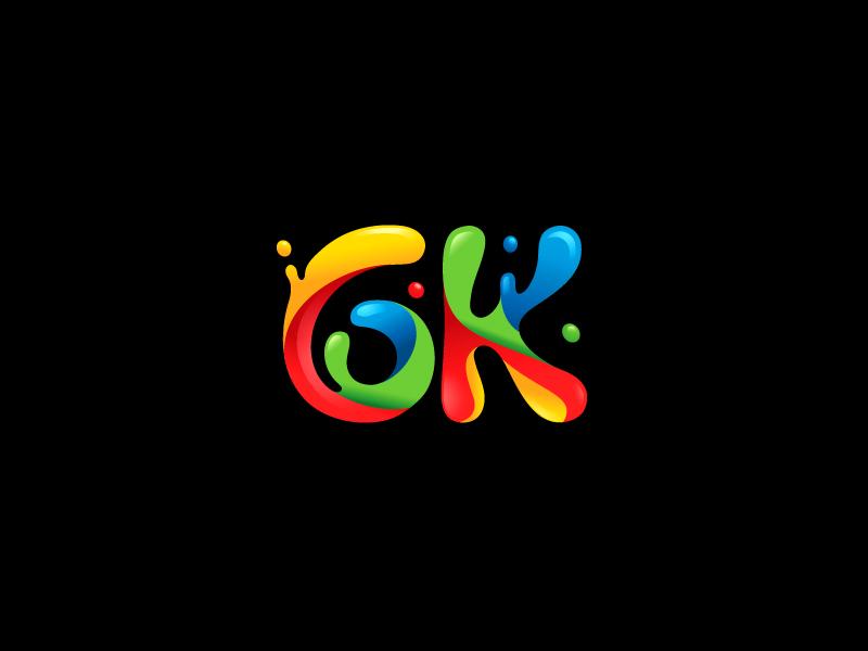 6K splashes rainbow juice water droplet colors colorful paint splash identity branding brand logo