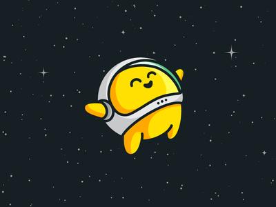 Astronaut - Option 2 logo app helmet identity astronaut space cute illustration character mascot illustrative fun