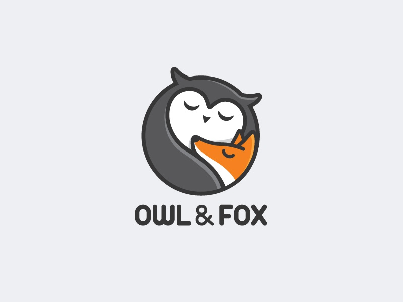 Owl & Fox Revision logo brand identity owl fox animal character illustrative illustration fun cute baby