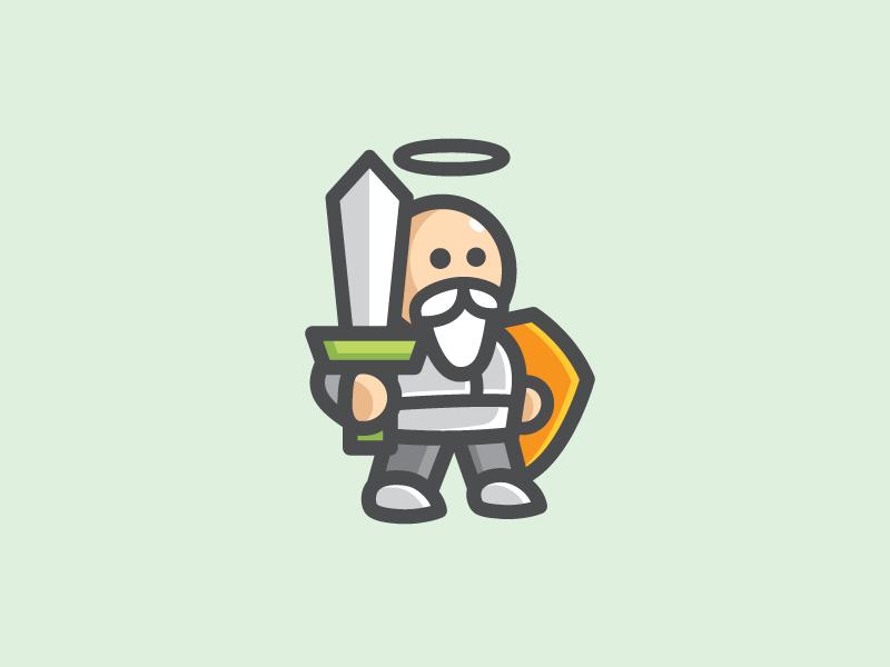 DewaGuard - Option 2 god fun cute armor antivirus security software illustration shield character identity protection logo