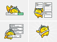 How it works astronaut space illustration cute character how it works website app ux ui icon logo