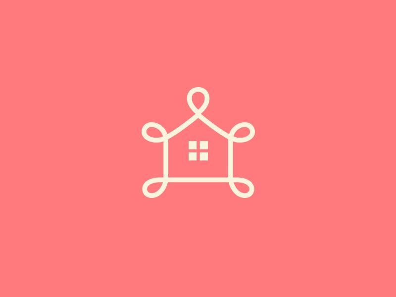 Home Decoration line decor staging property interior decoration home house identity branding feminine logo
