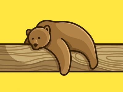 Lazy Bear illustration sleep rest lazy identity sleepy animal cute bear mascot character logo
