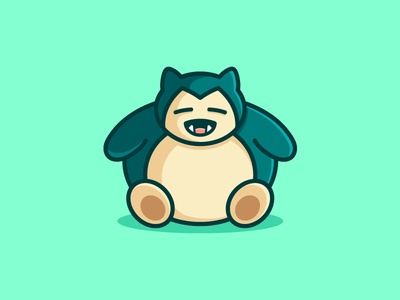 PokemonGo - Snorlax illustration illustrative snorlax character pokemon go trend trending hunt hunting fat geometry catch catching cute fun funny mascot people innovation technology cartoon nintendo logo game play