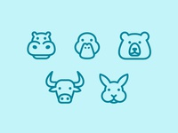 Animal Icons Set - 01
