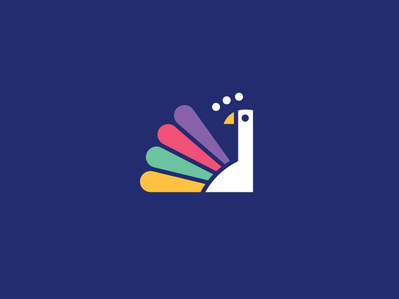 Peacock logo dribbble 2