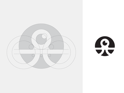 Octopus - Logo Grid character mascot icon favicon logo identity brand branding sea animal grid construction wings freedom app apps application web website octopus squid ui ux abstract geometry geometric