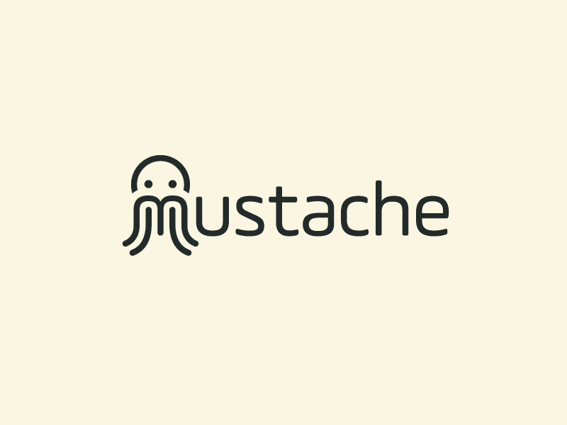 Mustache shave shaving gentleman macho creative monogram male masculine wordmark m logotype typography barber shop beard man moustache mustache cute fun funny brand branding logo identity