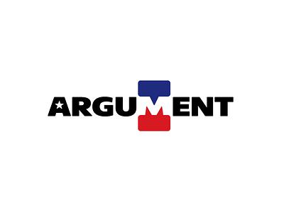 Argument negative space conversation talk debate chat m monogram logo typography brand branding vote election wordmark logotype public argument president donald trump usa america politic political
