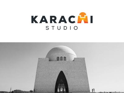 Karachi Studio - Final elegant luxury home appliances logo identity brand branding logotype typography wordmark unique ancient building mazar e quaid modern technology karachi pakistan smart creative app ui ux web