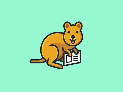 Quokka smile smiling character mascot illustrative illustration email postcard cute fun friendly marketing campaign direct mail animal pet happy joy quokka australia brand branding logo identity