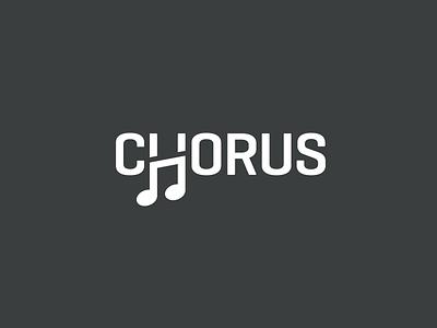 Chorus rhythm elegant unique clever h letter creative smart font typography logotype wordmark music note song melody sing singer chorus choir brand branding logo identity