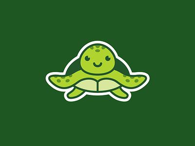 Sea turtle dribbble