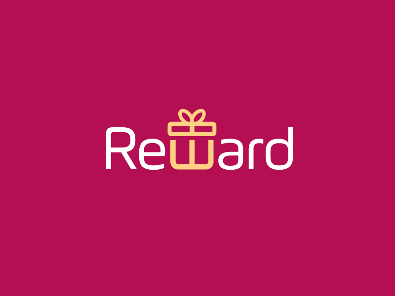 Reward relax relaxing work hard logo identity brand branding logotype wordmark font typography creative smart w letter unique clever bonus award reward gift enjoy weekend