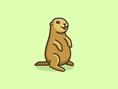 Prairie Dog - Final hole burrow prairie dog logo identity brand branding happy joy animal pet software web app cute fun friendly social group illustrative illustration character mascot smile cartoon
