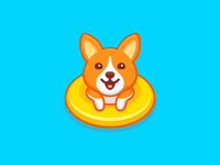 Swimming Corgi - Opt 1