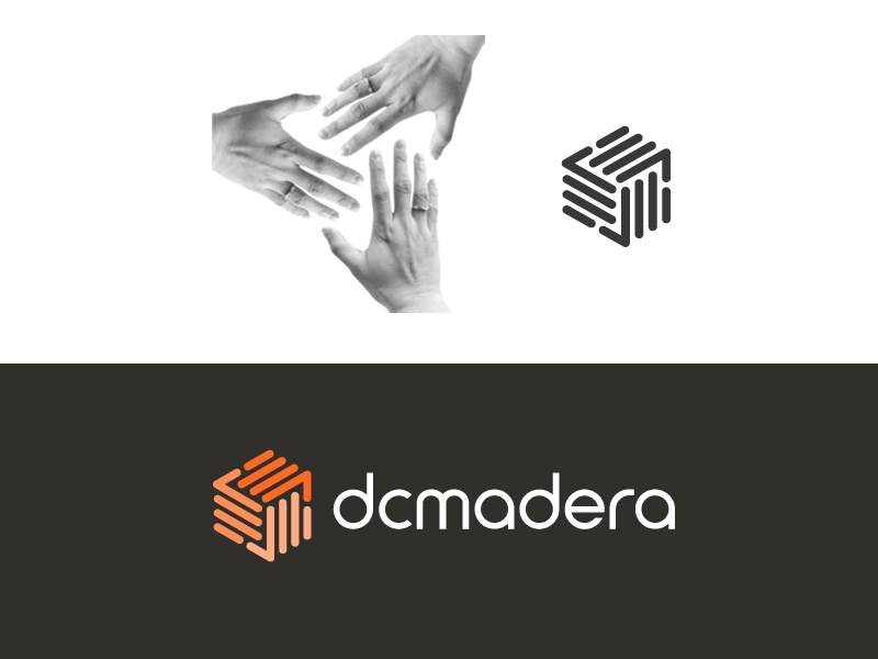 Hands / Teamwork  luxury luxurious innovation product carpentry carpenter logo identity brand branding furniture chair wood woodworking unity together hand teamwork geometry geometric classy elegant simple architect architecture abstract