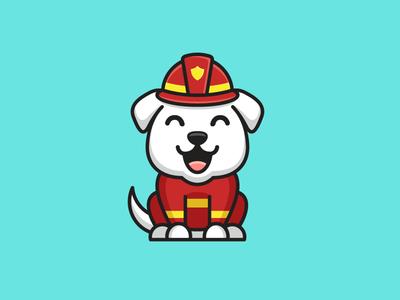 Firefighter Dog