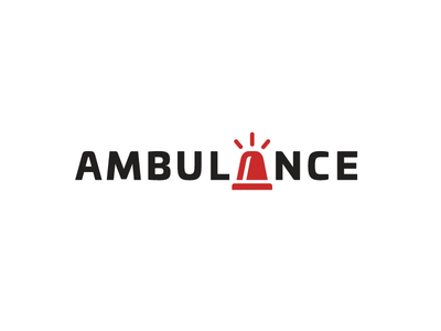 Ambulance Logotype siren alarm letter lettering logo identity brand branding doctor physician medical health ambulance hospital logotype wordmark font typography creative smart a letter unique clever