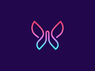 JL + Butterfly luxury sophisticated elegant feminine women woman beauty beautiful jl monogram butterfly insect dream fantasy color colorful modern art line monoline brand branding logo identity