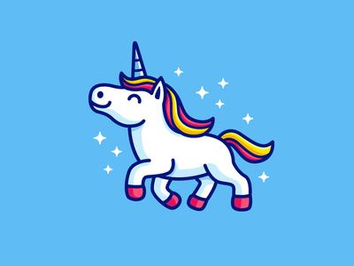 Unicorn beautiful magic cartoon mascot illustrative illustration child children adorable happy color colorful horn girl girly horse animal unicorn fantasy cute fun funny dream character logo identity