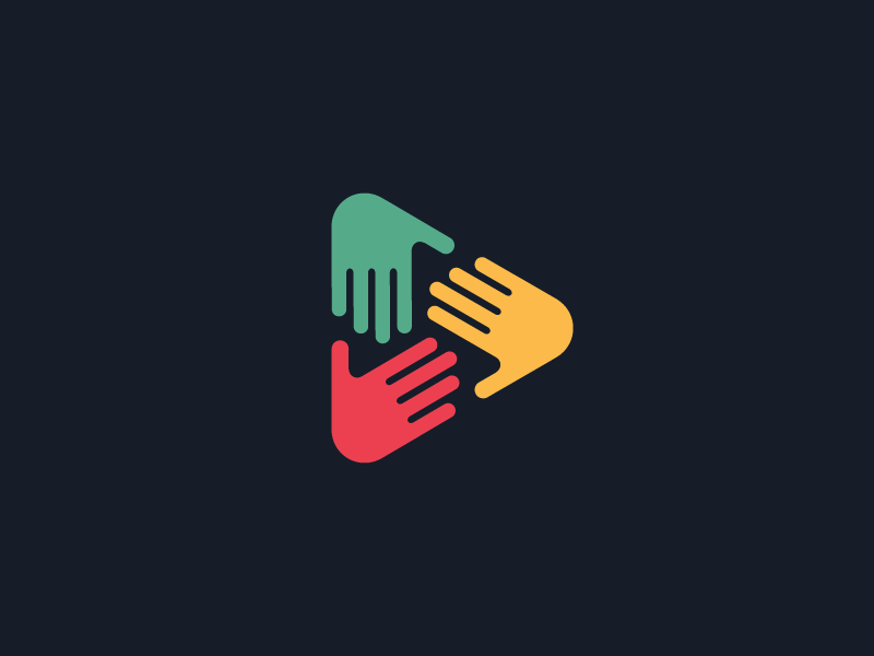 Hands play dribbble