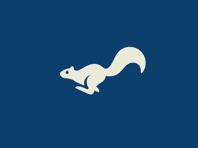 Running Squirrel mark symbol speed fast dynamic jump illustrative illustration nature zoo cute fun funny run running squirrel tail animal pet silhouette gestalt logo identity game motion