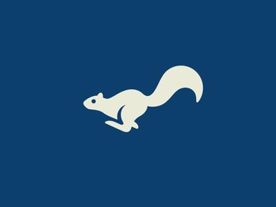 Running Squirrel mark symbol speed fast dynamic jump illustrative illustration nature zoo cute fun funny run running squirrel tail animal pet silhouette gestalt logo identity game motion