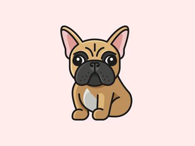 French Bulldog - Final sticker pin pet puppy cute adorable fun funny clothing apparel cartoon comic child kids sitting dog logo illustration animal character friendly mascot french bulldog
