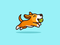 Dog & Tennis Ball - 02