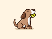 Dog & Tennis Ball - 04