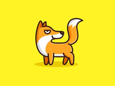 Sly Fox fun funny mobile app mascot character cartoon comic evil smile face expression meme website cunning naughty sly fox illustrative illustration brand branding logo identity