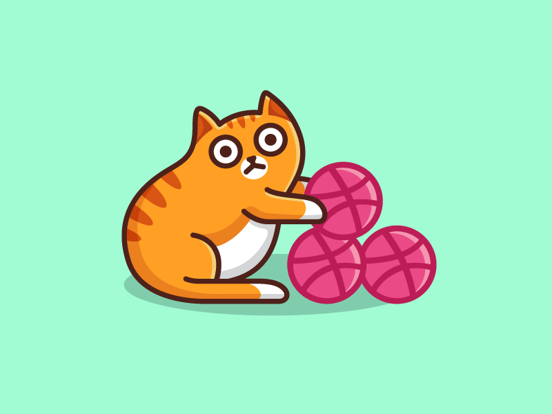 3 Dribbble Invites face expression ball kitten prospect prospects dribbble player illustration illustrative character mascot give giveaway invite invitation join member cute funny cat animal logo identity