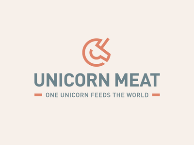Unicorn vegetable beef fantasy animal simple abstract geometry geometric line monoline food protein plant based label packaging meat product unicorn horse brand branding logo identity