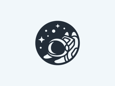 Kid Astronaut gravity helmet float floating moon space monochrome star black and white astronaut dream child children illustrative illustration geometry geometric brand branding logo identity kid kids