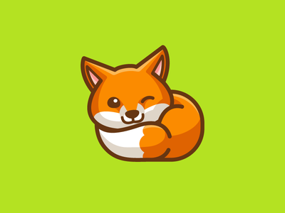 Little Fox animal comic cartoon illustration child children adorable smile wink winking nap napping sleep sleeping baby fox cute fun funny illustrative illustration character mascot logo identity