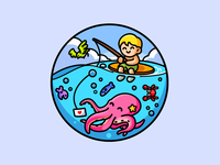 Surfer Boy & Octopus