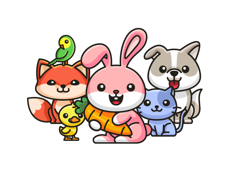 Animal Family children book colorful cartoon non profit love protect zoo pet forest nature family species child children cute fun funny illustrative illustration character mascot logo design
